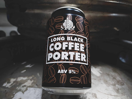 Long Black Coffee Porter 330ml Can (x12)