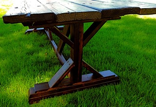 AED farmhouse table