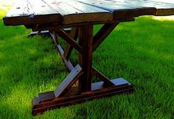 AED farmhouse table