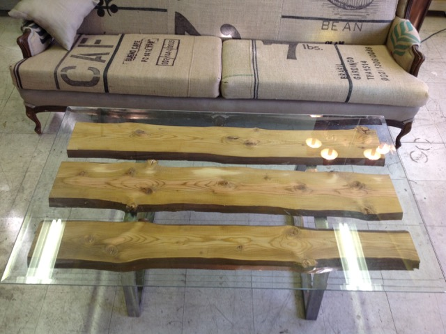 AED slab coffee table