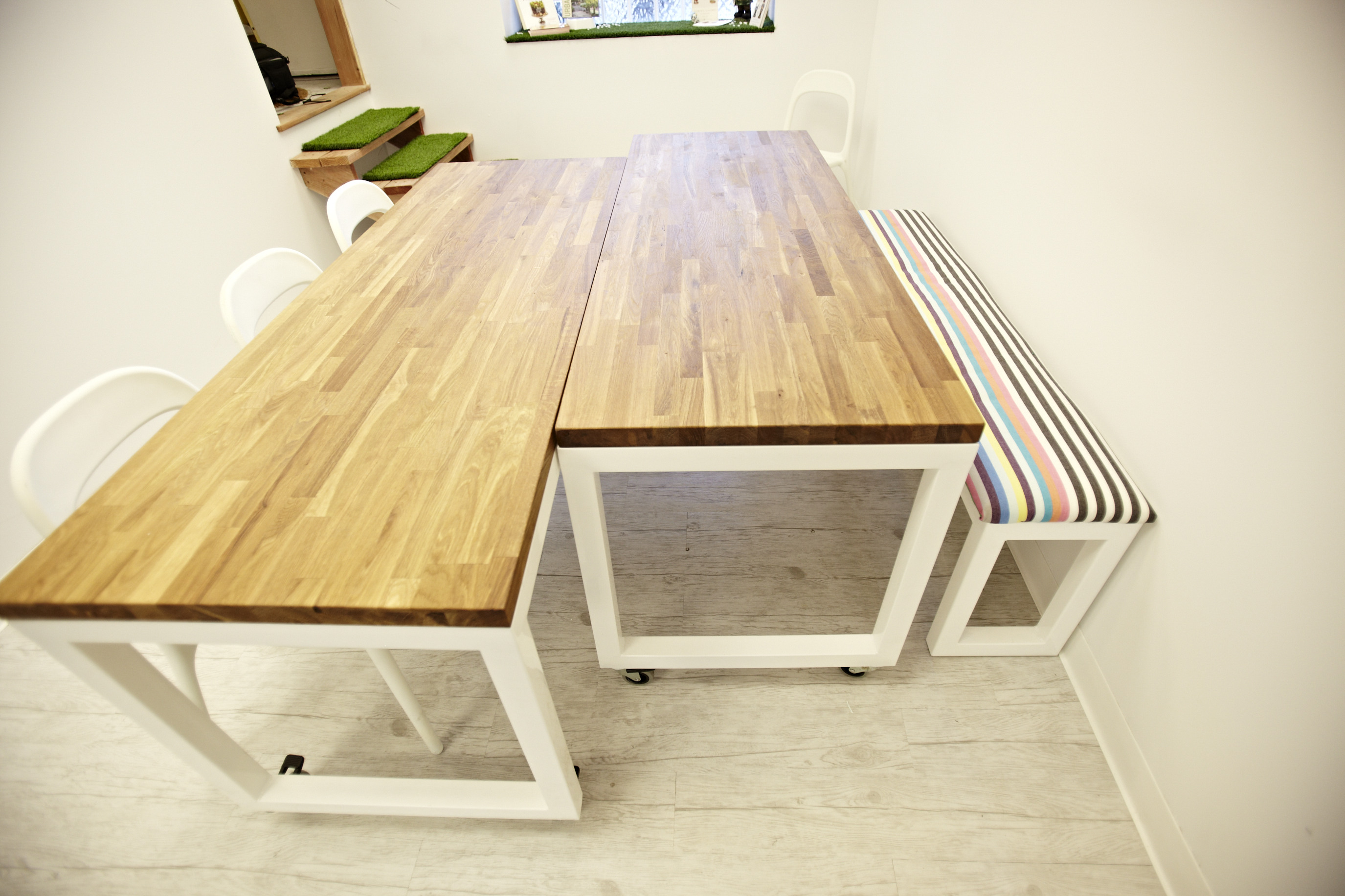 lowbrow craft tables + bench