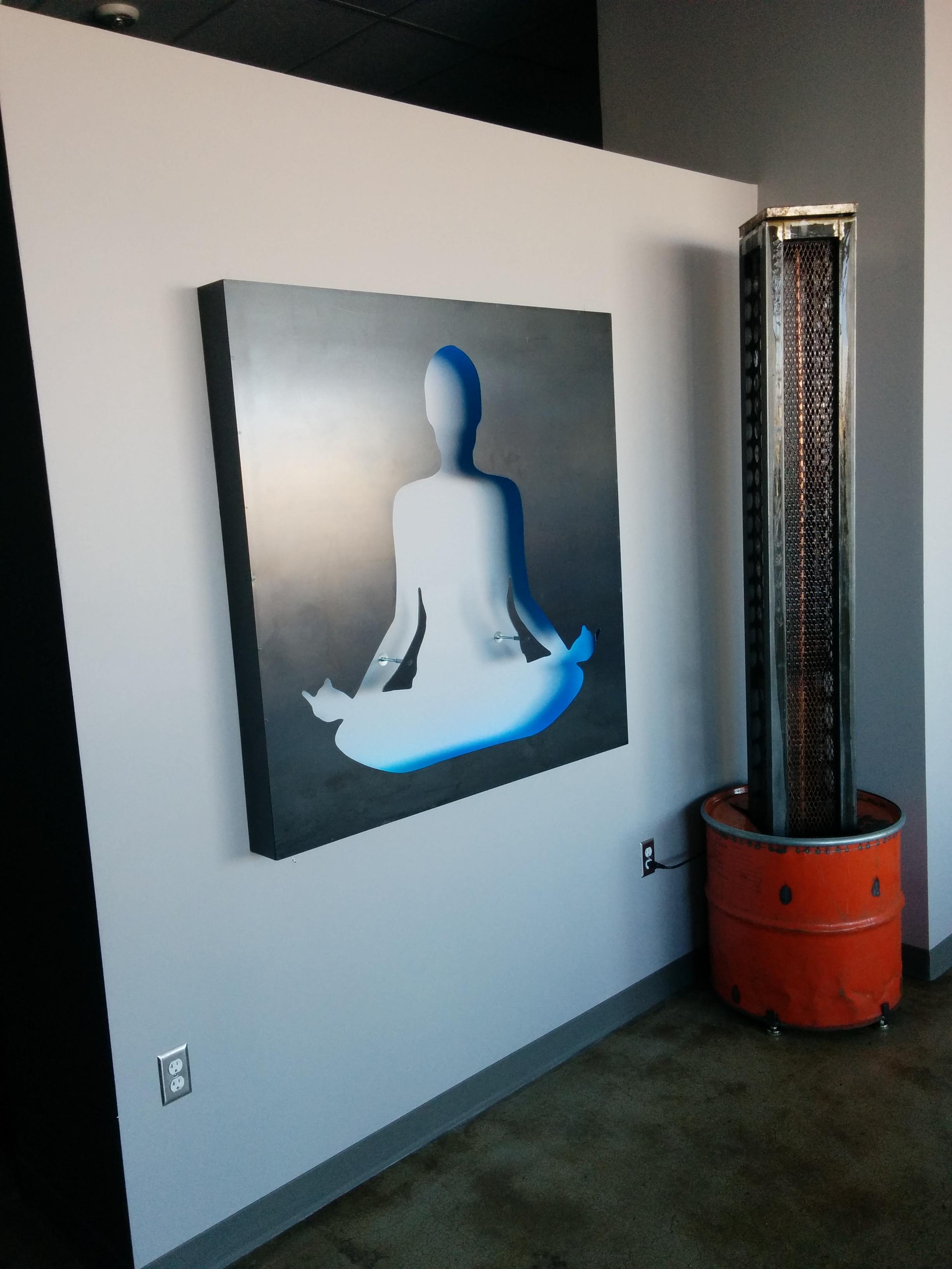kula yoga studio backlit sign