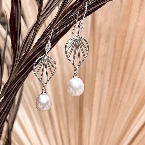 Marie Freshwater Pearl Earrings