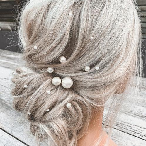 Mixed Size Pearl Hair Pins