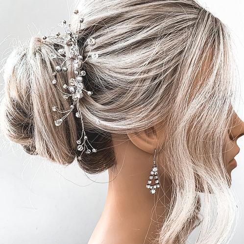 Triangular Diamanté Earrings