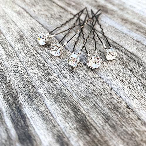 Sparkling Crystal Hair Pins