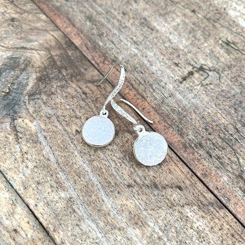 Opal Druzy Drop Earrings