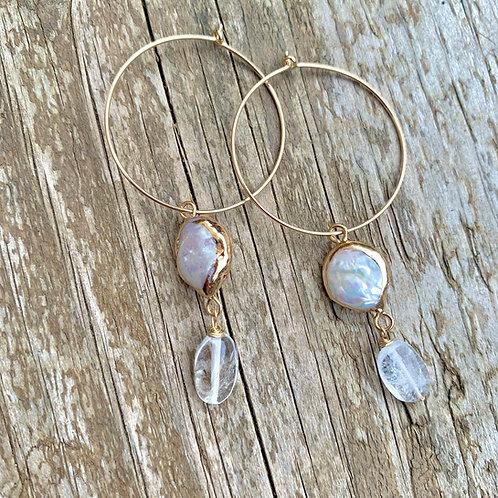 Aria Gold Boho Hoop Earrings