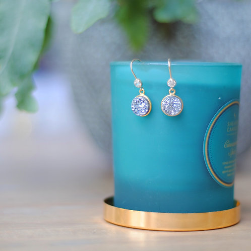 Druzy Gold Set Earrings