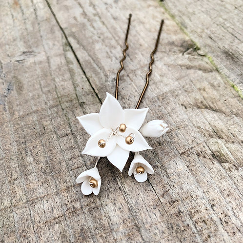 Gia Floral Hair Pin