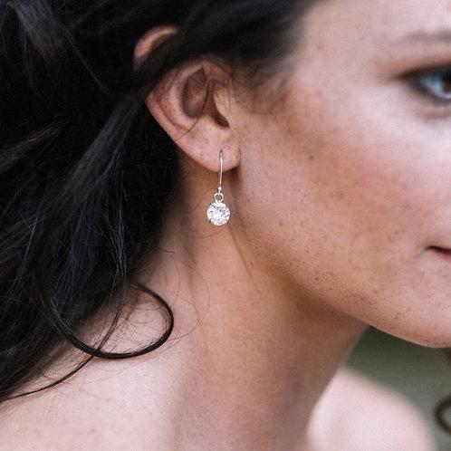 Crystal Round Drop Earrings