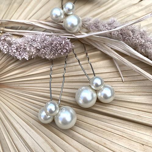 Cluster Pearl Hair Pins