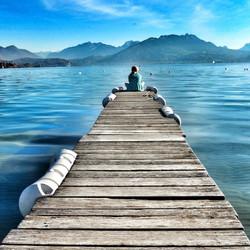 A pontoon - Lake Annecy