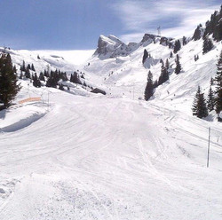 A deserted piste in Flaine