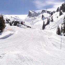 A deserted piste in Flaine