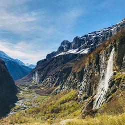 Sixt autumn waterfall