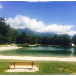 An unusually quiet Lac Bleu