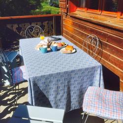 Breakfast on the verandah