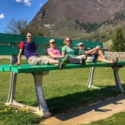 Giant bench Chartreuse de Melan
