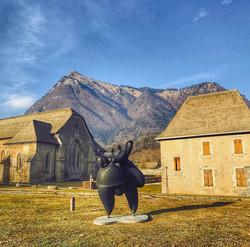 Sculpture at Chartreuse de Melan
