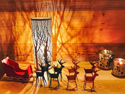 Chalet decorated for Xmas