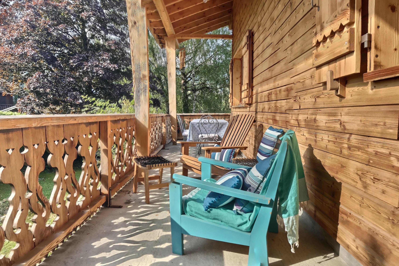 Large sunny covered verandah