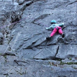 Climbing near Sixt