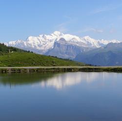 Mont Blanc from the Col de Joux Plane