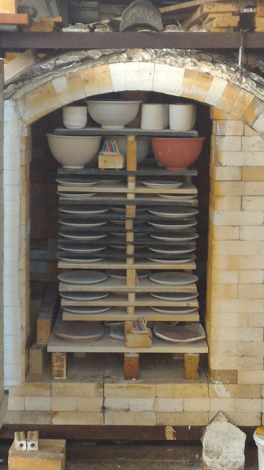 Before: Kiln Loaded
