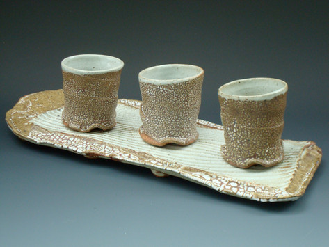 Woodfired Cup and Tray