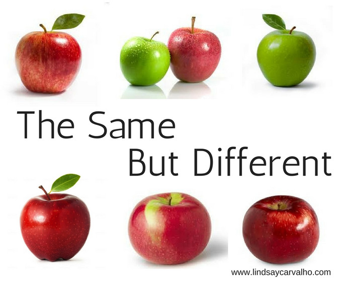 We are all the same, but different