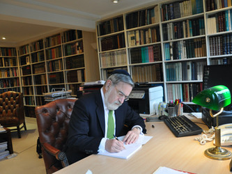 Rabbi Jonathan Sacks' Prescription for Hope in Troubled Times