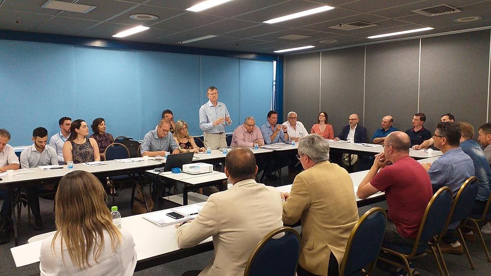 1ª Reunião com associados IBPE Projeto de análise do mercado de exportação na FIERGS em Porto Alegre - RS.FIERGS)