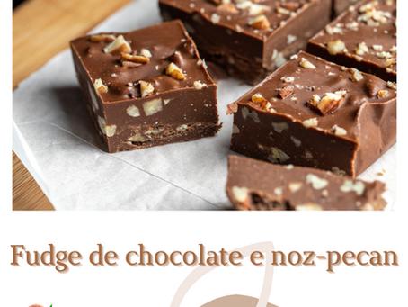 Fudge de Chocolate com Noz-Pecan