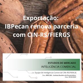 Exportação: IBPecan renova parceria com CIN-RS/FIERGS