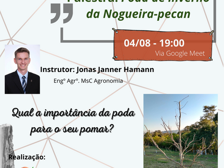 IBPecan realiza palestra virtual sobre poda de inverno da Nogueira-Pecan