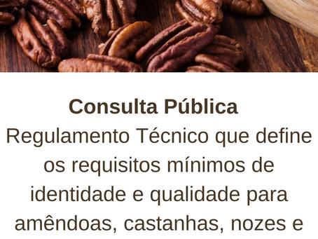 Definição sobre requisitos mínimos de  qualidade de amêndoas, castanhas, nozes e frutas secas.