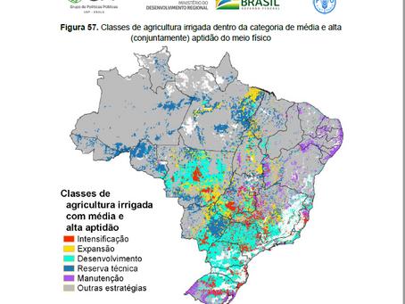 Estudo incentiva a expansão da agricultura irrigada no Brasil