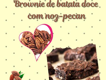 Receita:Brownie de batata doce com noz-pecan