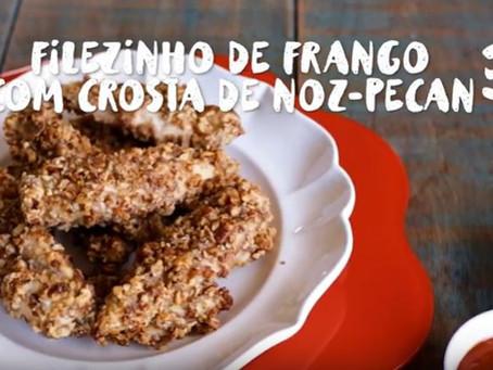 Filezinho de Frango com crosta e Noz-Pecan