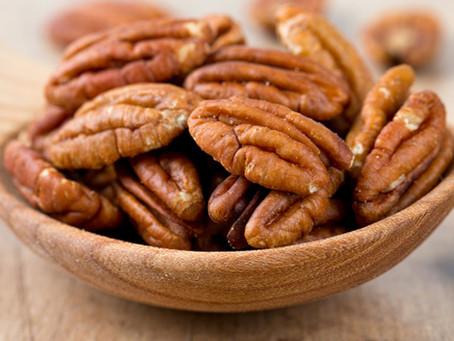 Noz-Pecan: rica em fibras e antioxidantes.