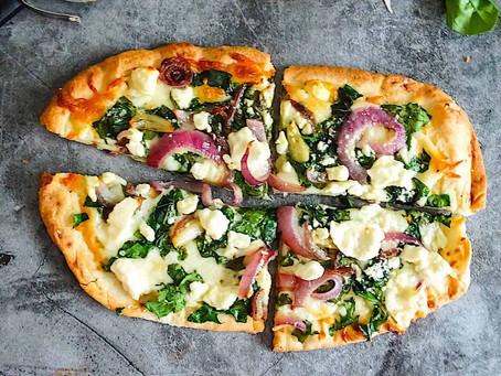 RV Recipes: Convection Oven Spinach & Feta Flatbread Pizza | Mid Florida RV