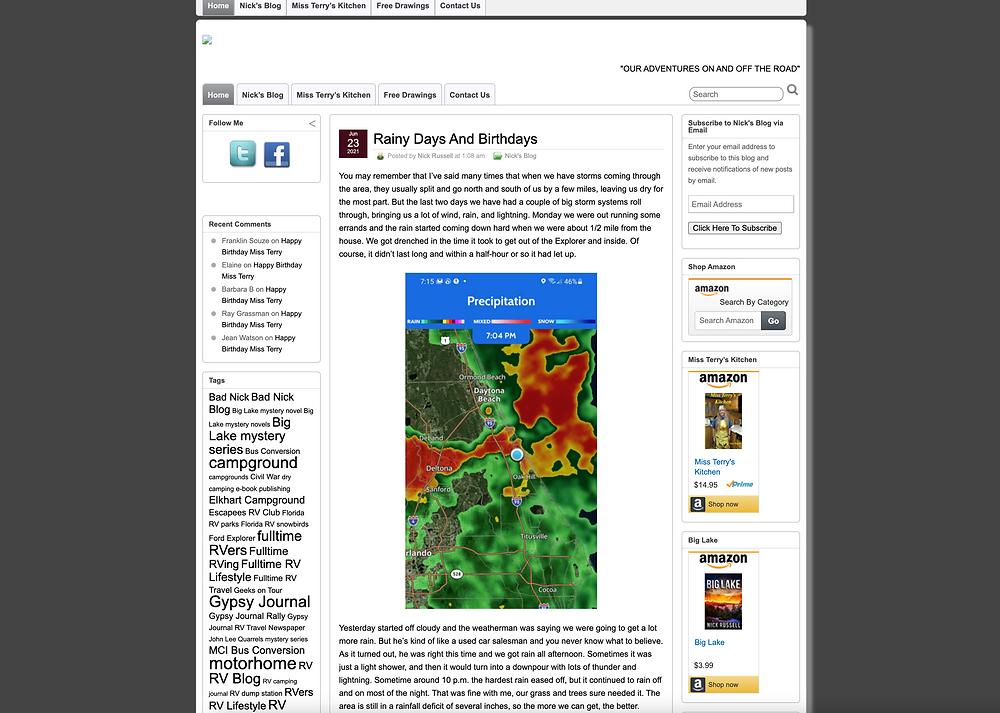 Screenshot of Gypsy Journal RV Blog
