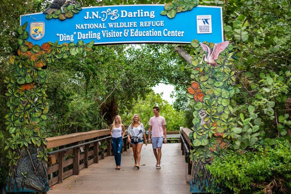 """Image of visitors at the J.N. """"Ding"""" Darling National Wildlife Refuge"""