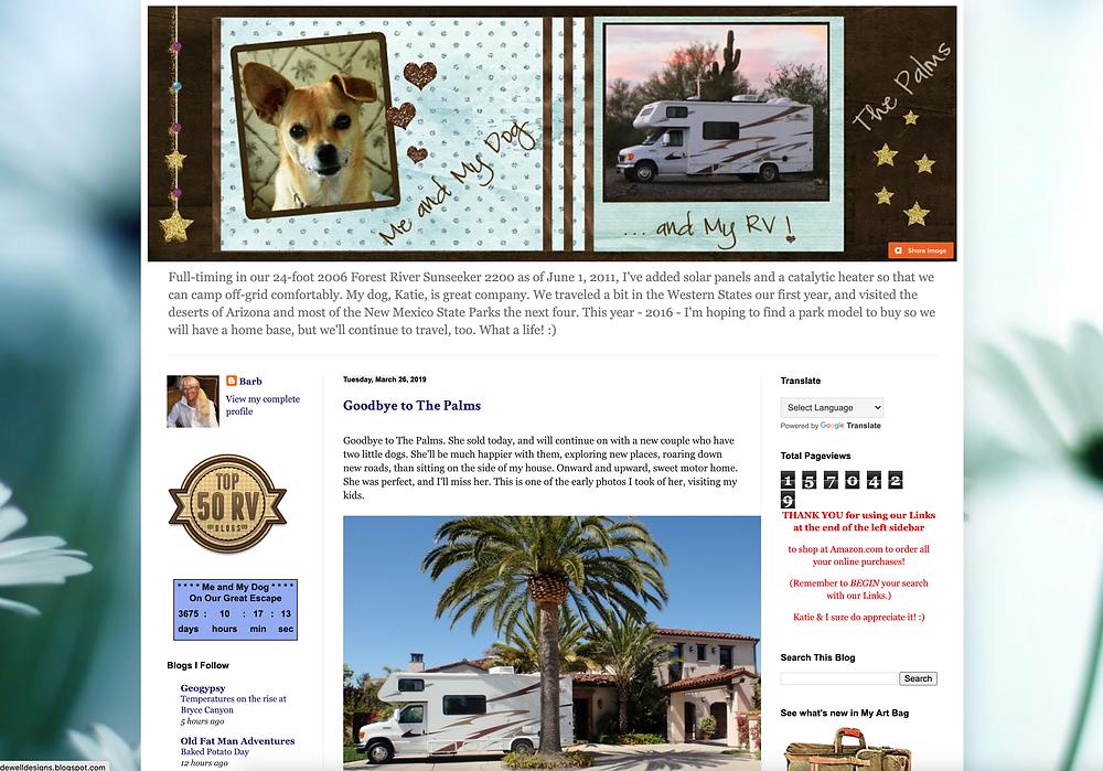 Screenshot of DeWell Designs Blog