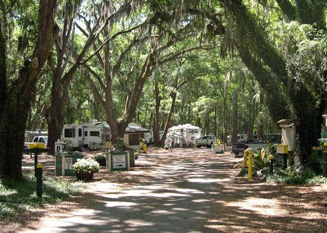 Image of RVs and campers at Periwinkle Park & Campground in Sanibel Island