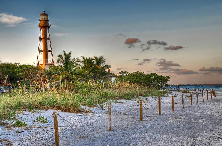 Landscape photo of Sanibel Island Lighthouse and Beach