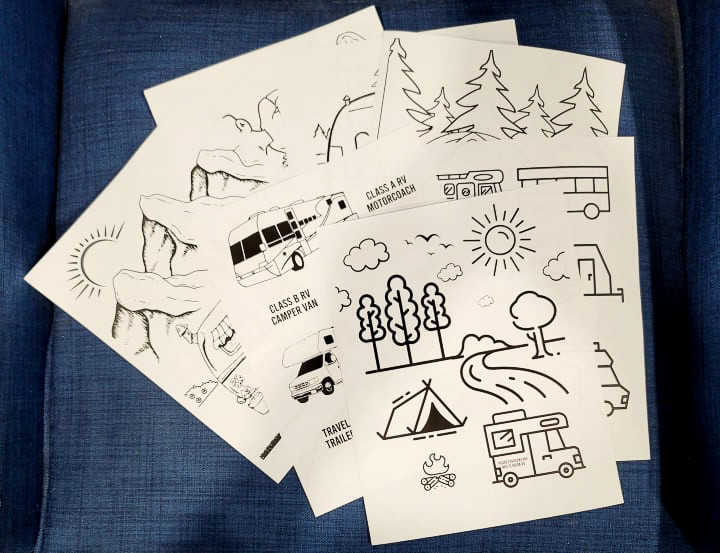 """Photo of the """"Dare To Adventure"""" Kids RV Printable Coloring Activity"""