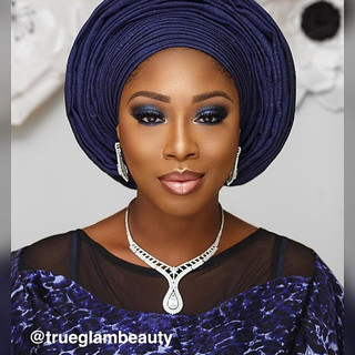 50 shades of blue ... makeup and gele by