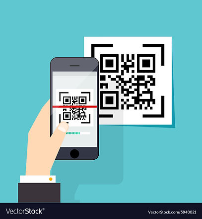 scan-qr-code-to-mobile-phone-electronic-